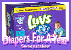 FREE DIAPERS FOR A YEAR